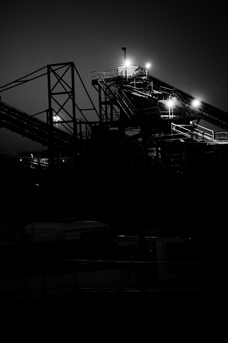 JSP Factory Night BW